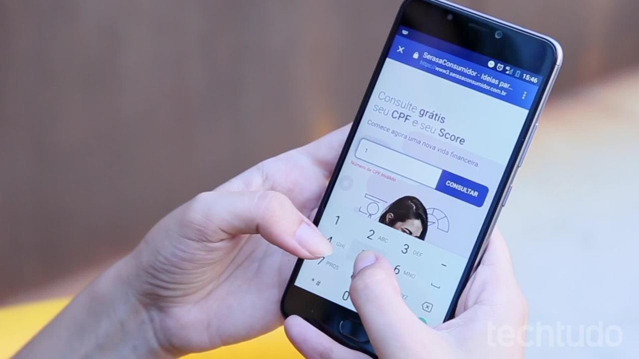 Como consultar CPF no Serasa; app grátis funciona no celular