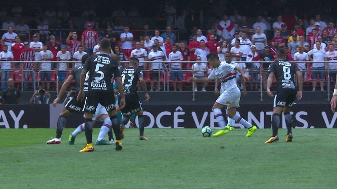 Melhores momentos: São Paulo 1 x 1 Corinthians pela 25ª rodada do Brasileirão