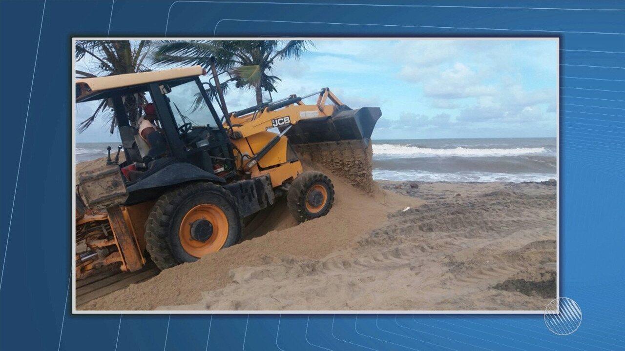 Avanço do mar destrói ruas, avenidas e barracas de praia em Belmonte; veja na Previsão