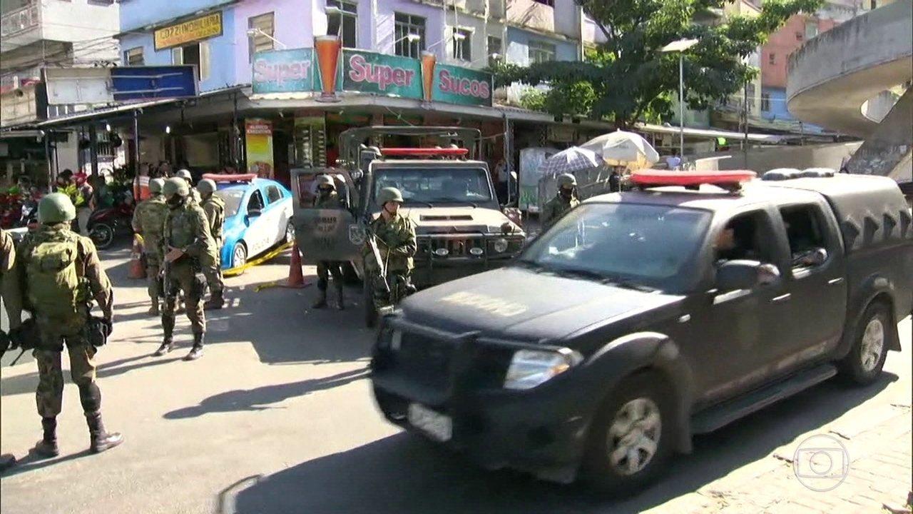 Rocinha tem manhã com tiroteio, no 5º dia de ocupação das tropas federais