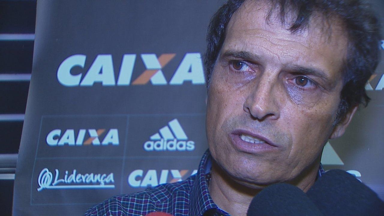 Coletiva do técnico Milton Cruz após Criciúma 1 x 1 Figueirense