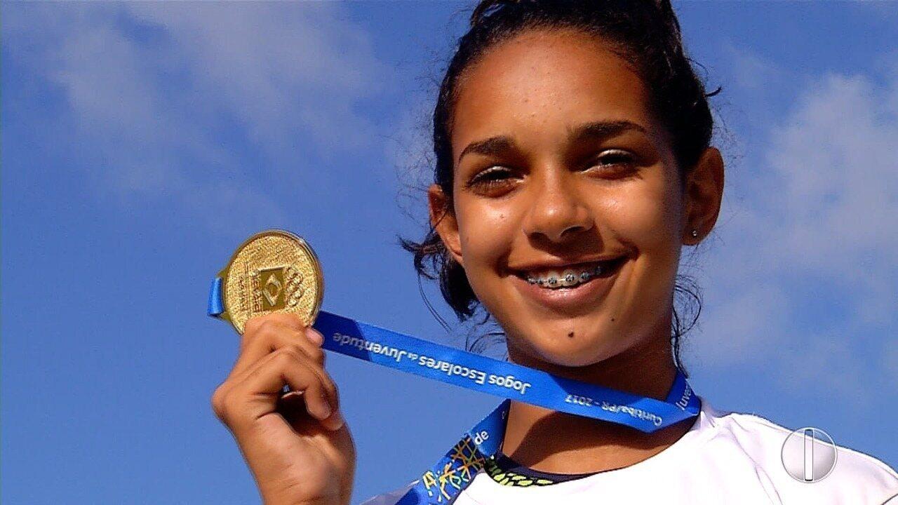 Atleta potiguar é medalha de ouro nos Jogos Escolares da Juventude