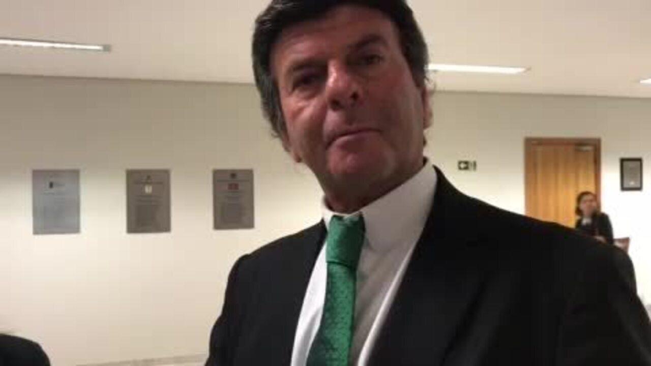 O ministro Luiz Fux fala do julgamento no STFsobre validade da Lei da Ficha Limpa