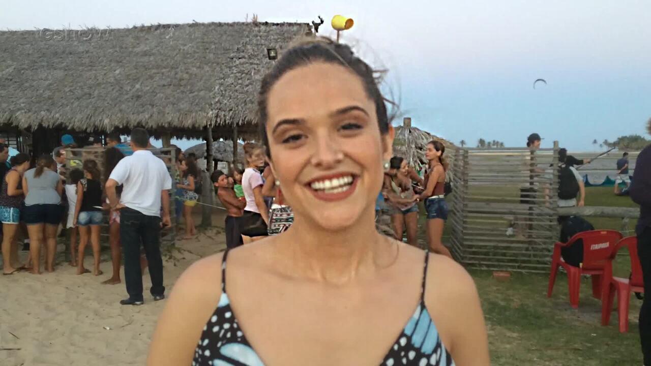 Juliana Paiva faz passeios em Fortaleza e cita 5 motivos para não perder o 'Estrelas'