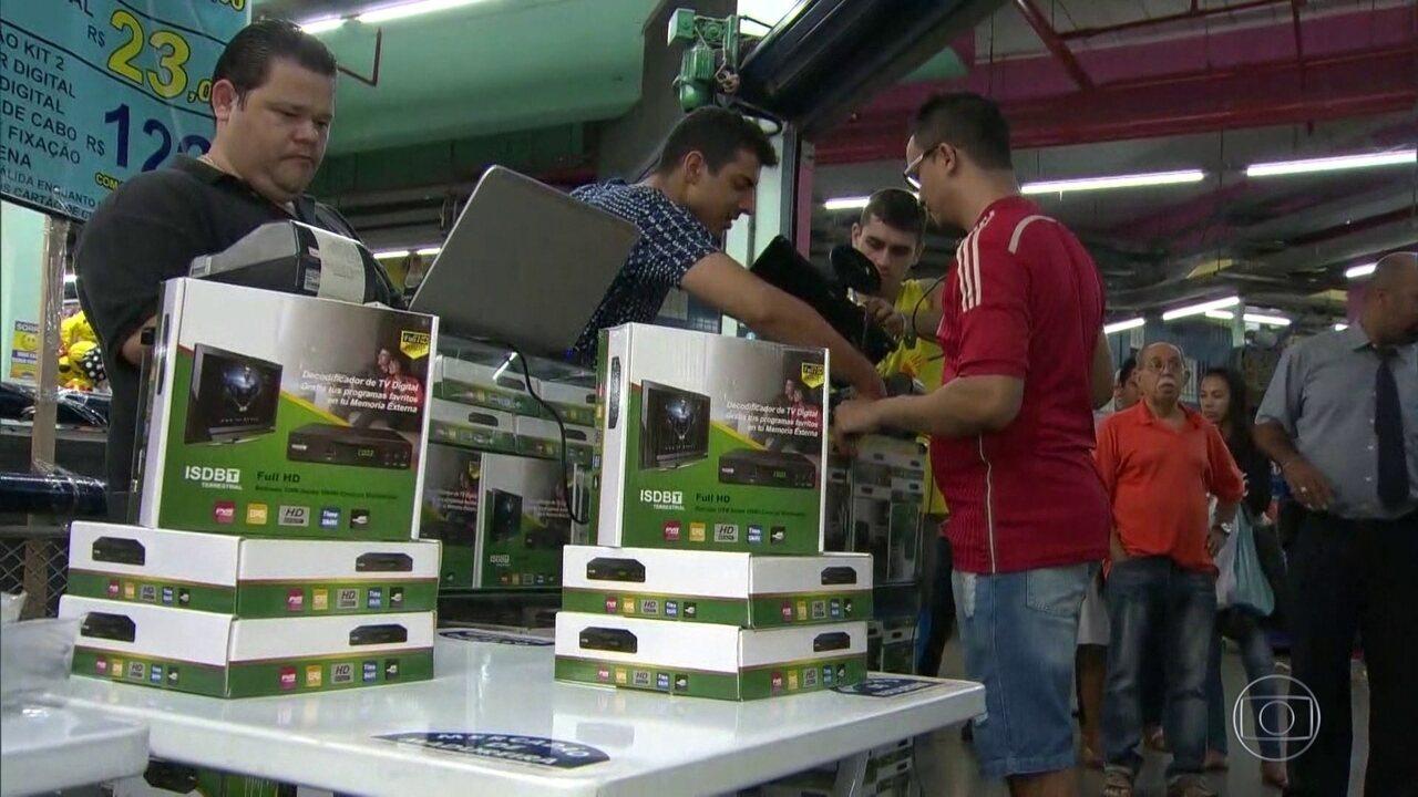TV Digital: feirões oferecem equipamentos mais baratos