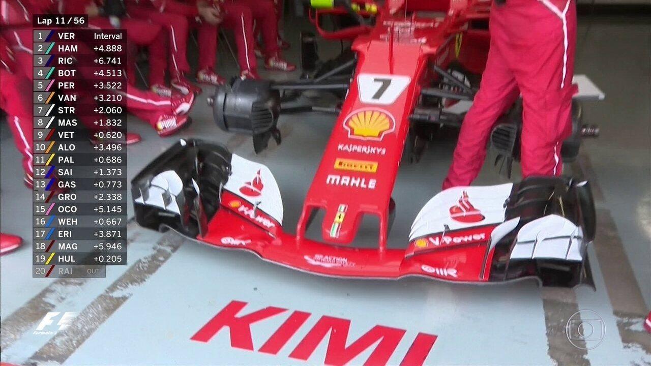 A imagem da decepção da Ferrari na Malásia