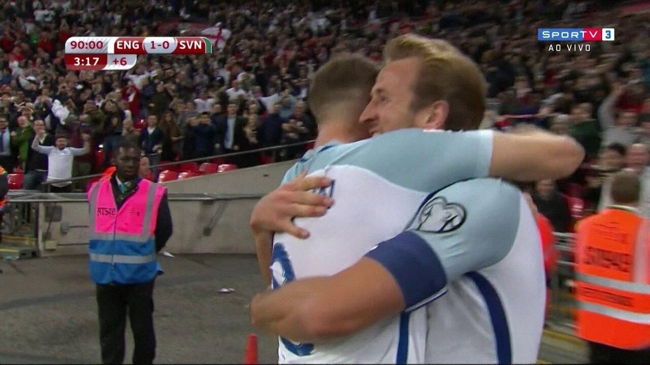 O gol de Inglaterra 1 x 0 Eslovênia pelas Eliminatória da Copa de 2018