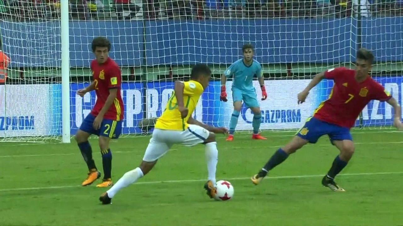 Melhores momentos de Brasil 2 x 1 Espanha pela 1ª rodada do Mundial sub-17 616d4a6c88ba8