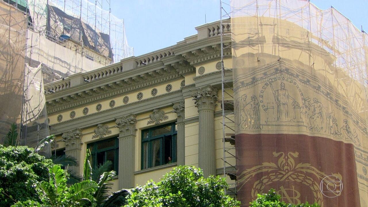 Reforma da Biblioteca Nacional revela detalhes que até hoje estavam escondidos