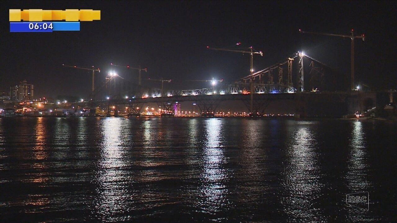 Transferência de carga da Ponte Hercílio Luz é concluída com sucesso