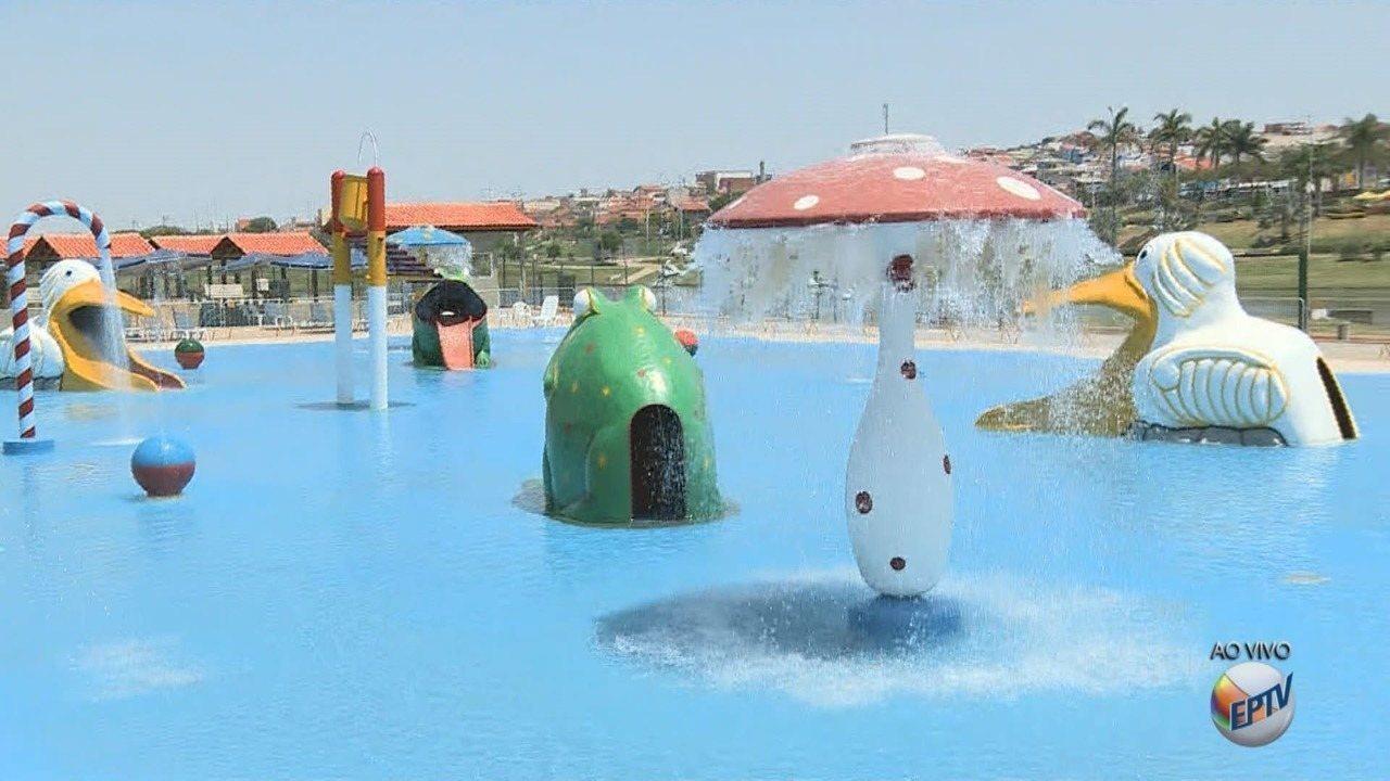 Indaiatuba inaugura parque aquático no Dia das Crianças