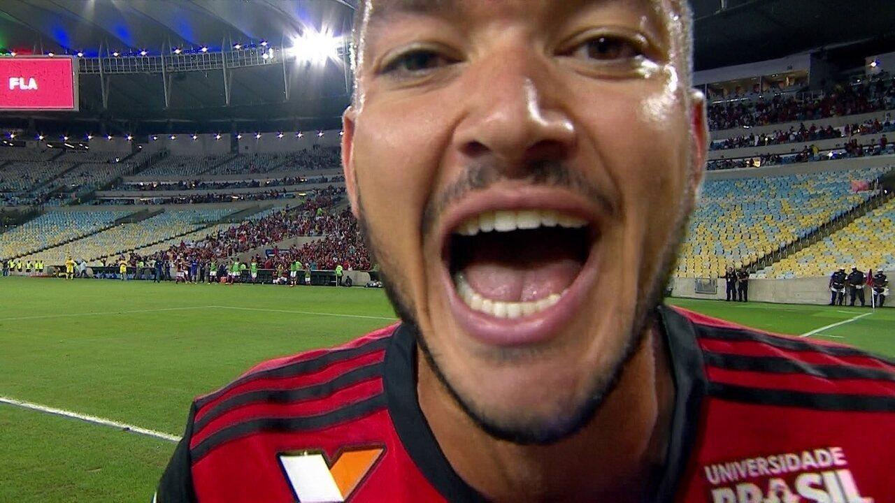 Gol do Flamengo! Everton cobra falta na área e Rever empata o jogo, aos 24 do 2º tempo
