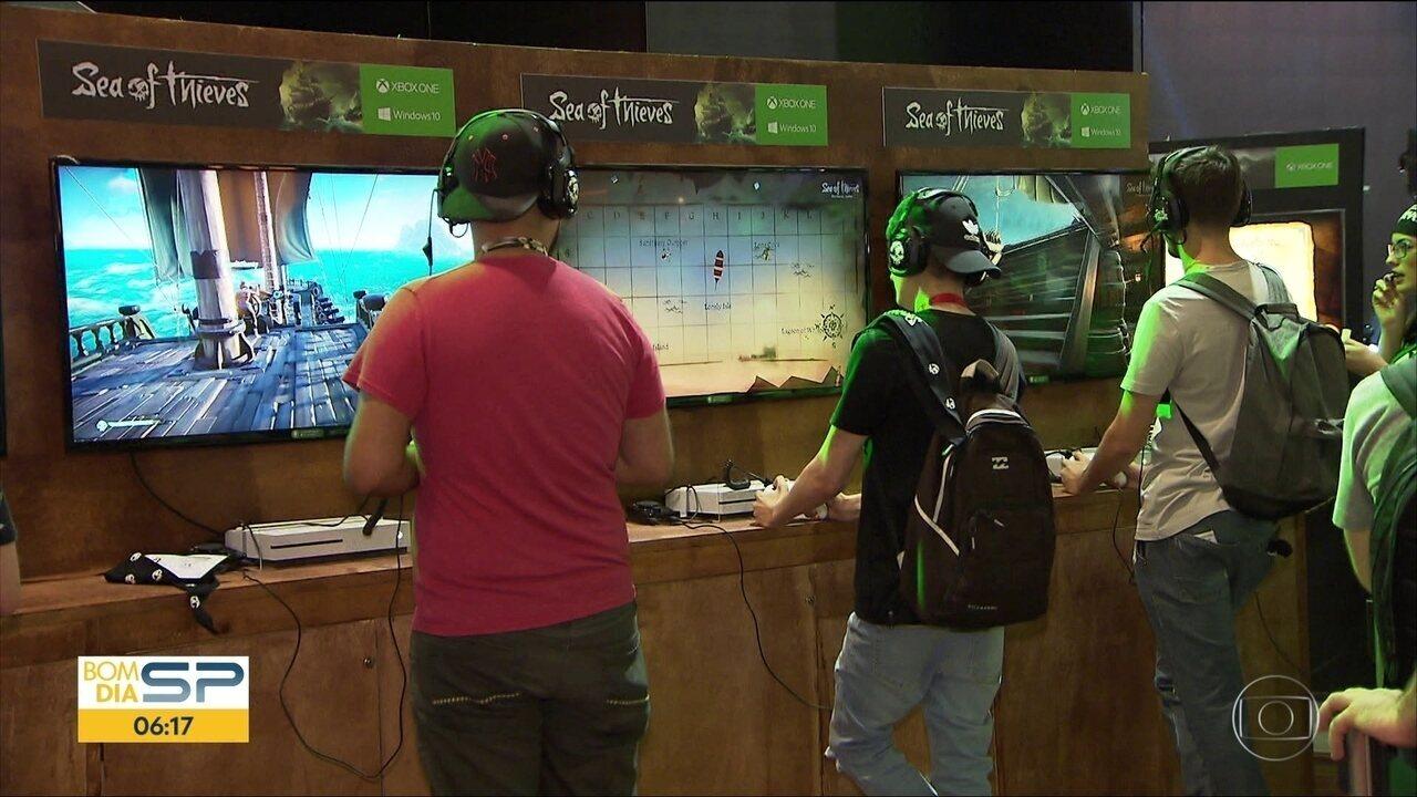 Criadores de jogos para videogames apresentam as novidades em feira em SP