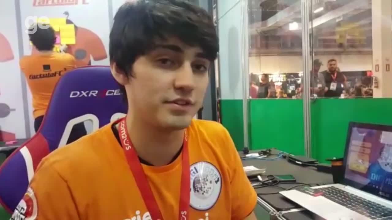 Bruno Ribeiro explica o game criado pela sua equipe, a DigiMoon