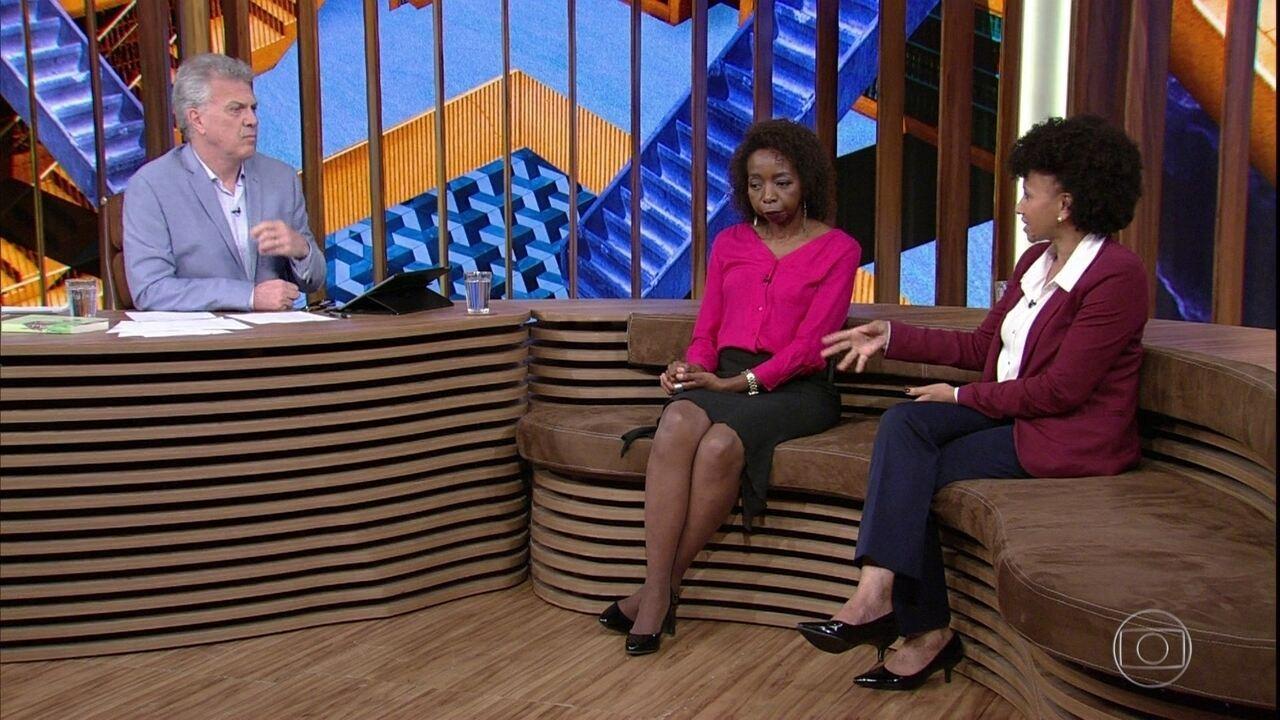 Bial, Gina e Joana discutem a situação da educação no Brasil