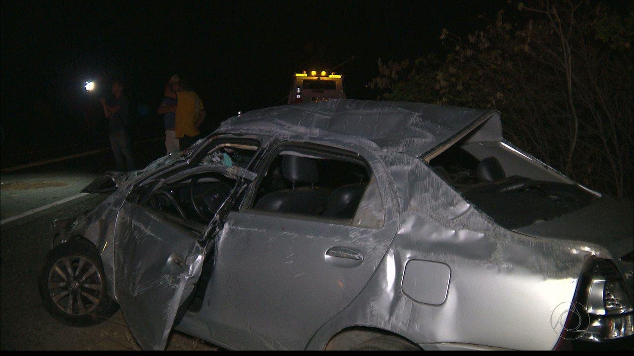 Acidente na BR-412, entre São João do Cariri e Boa Vista, no Cariri, deixa três mortos