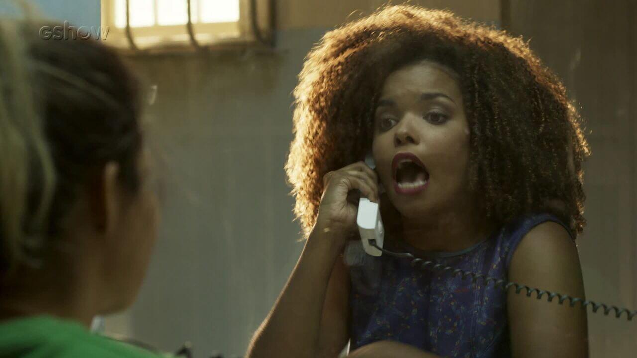 Teaser 'Pega Pega' 19/10: Tânia tripudia de Sandra Helena na prisão