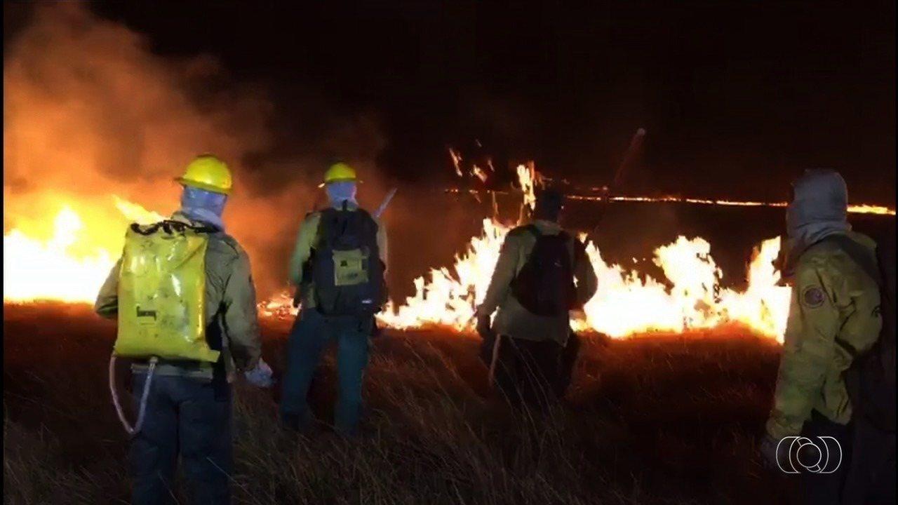 Chapada dos Veadeiros já tem 35 mil hectares atingidos por incêndio