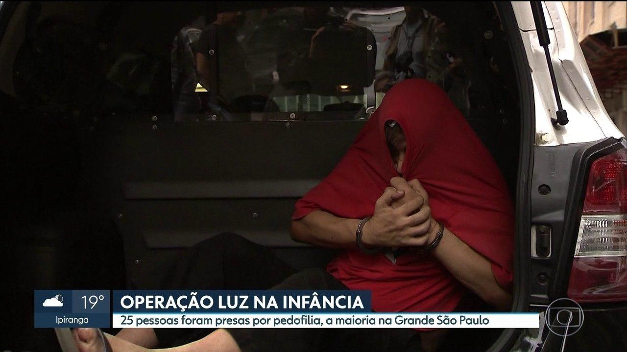 Operação nacional contra a pedofilia prende 25 pessoas em São Paulo