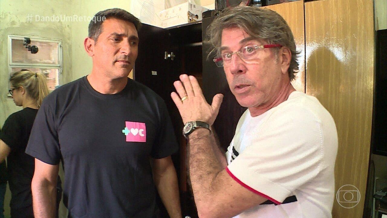 Equipe do 'Dando um Retoque' inicia os trabalhos na casa de Mayriane