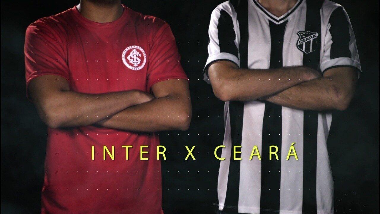 Chamada para a transmissão de Internacional x Ceará pelo Brasileirão Série B 2017