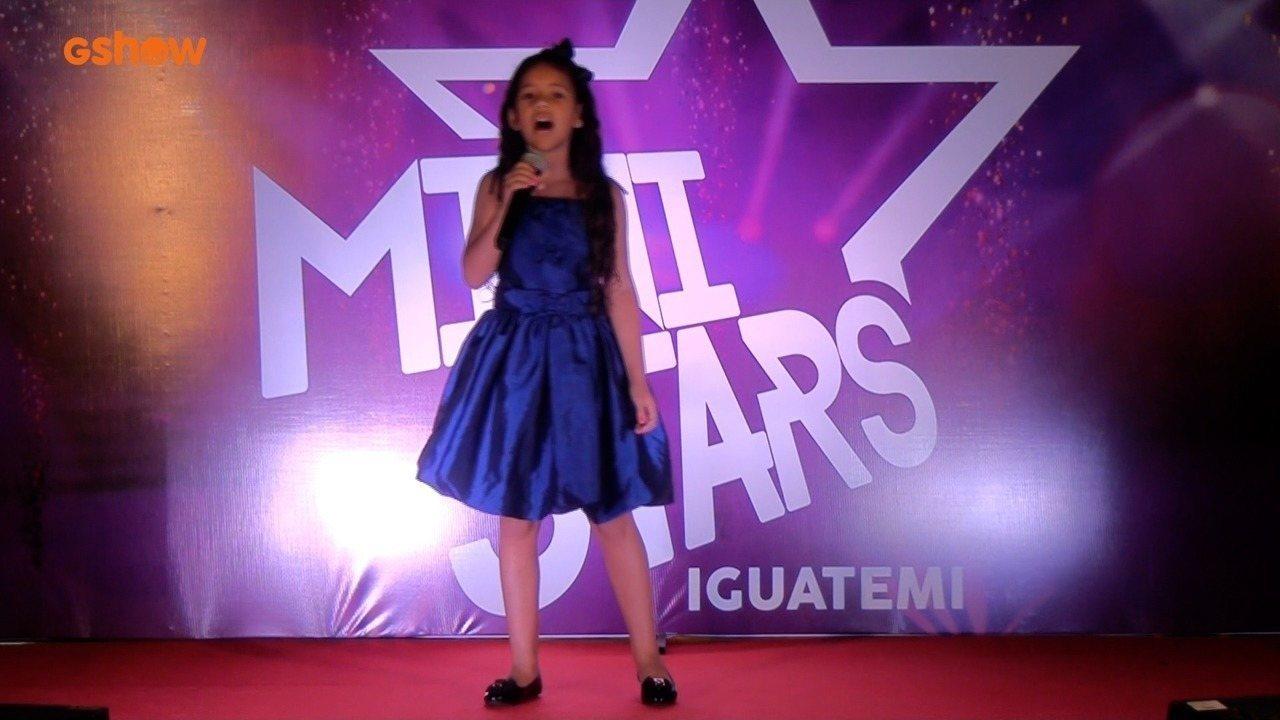 Apresentação de Stefane de Sousa na final do Mini Stars