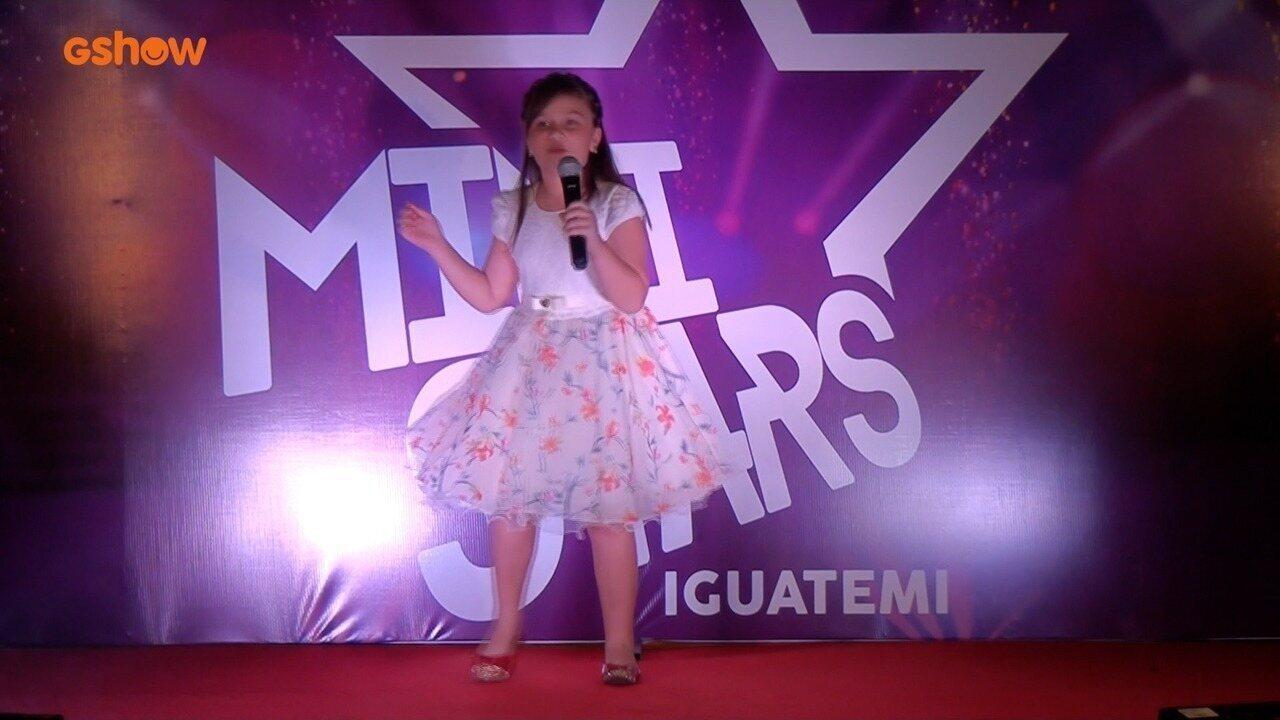 Apresentação de Clara Gifoni na final do Mini Stars