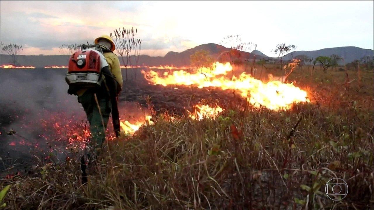 PF investiga incêndio no Parque Nacional da Chapada dos Veadeiros