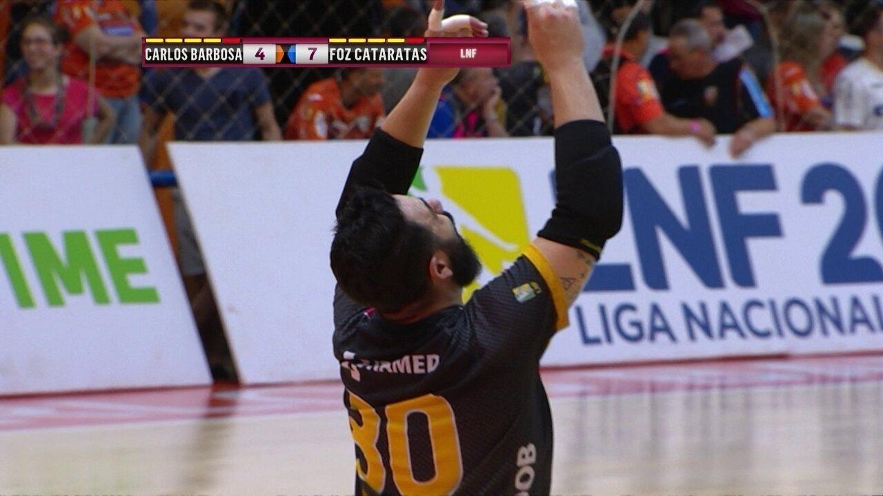 Os gols de Carlos Barbosa 4 x 7 Foz Cataratas pela Liga Nacional de Futsal