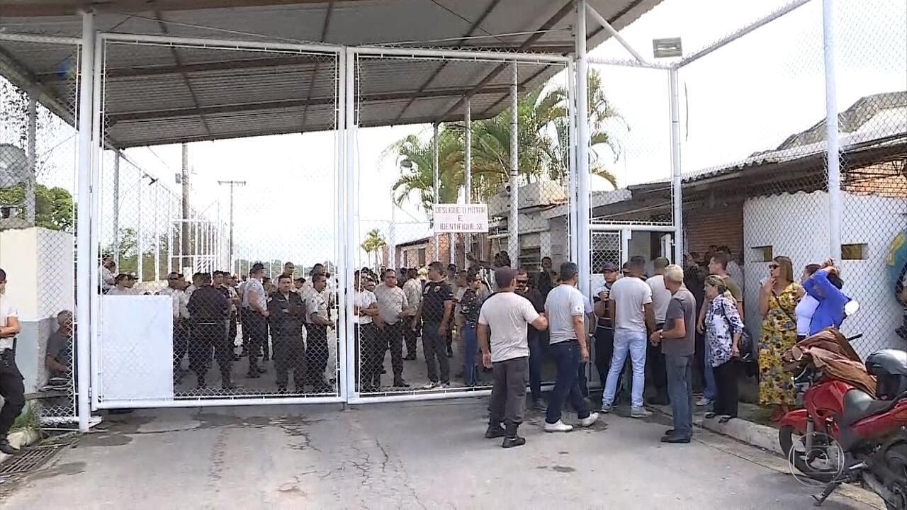Agentes penitenciários param em protesto contra tentativa de assassinato de colegas
