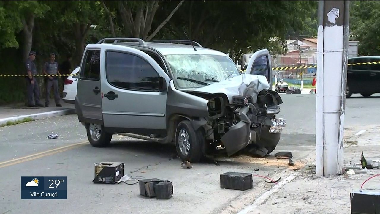 Perseguição policial termina em acidente na Zona Sul da capital