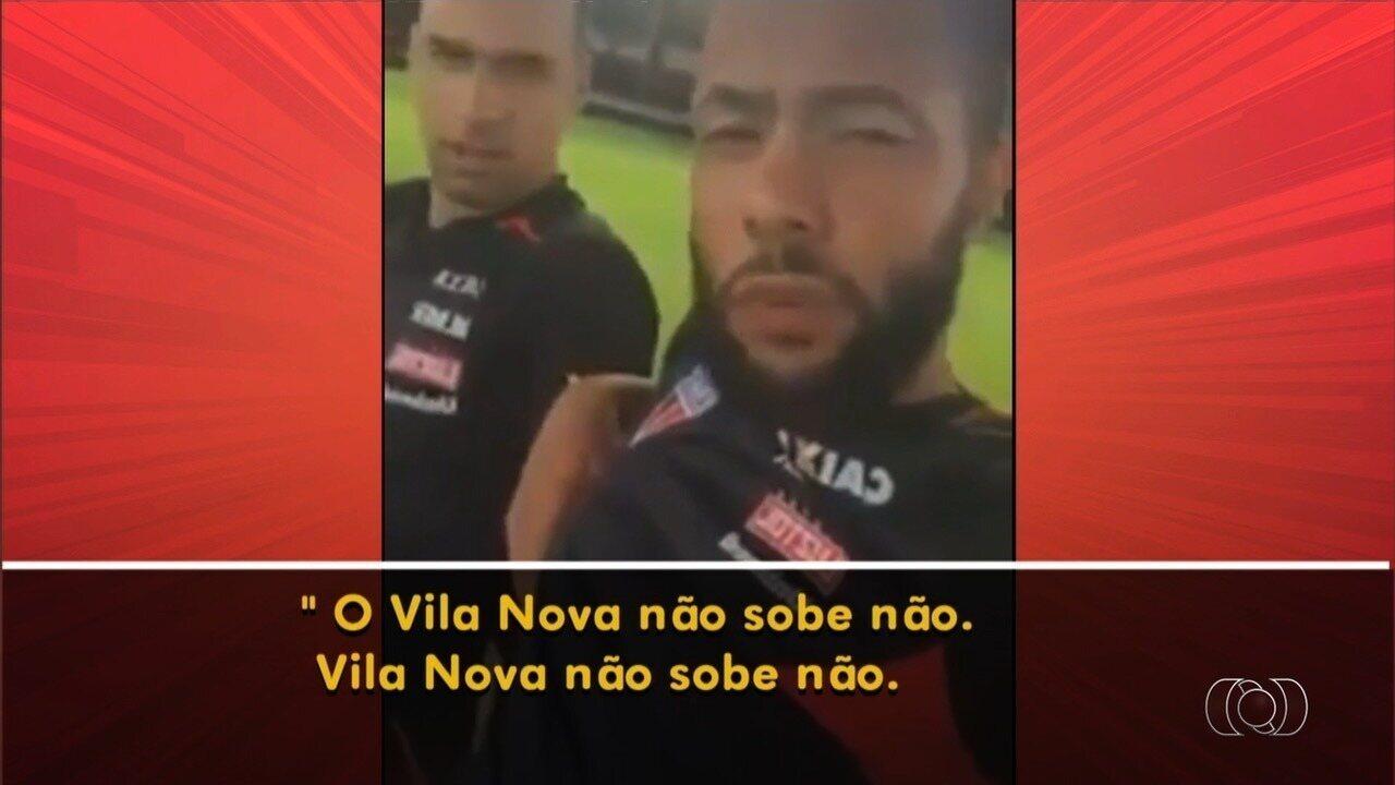 Jogador do Atlético-GO faz declaração polêmica sobre Vila Nova em rede social