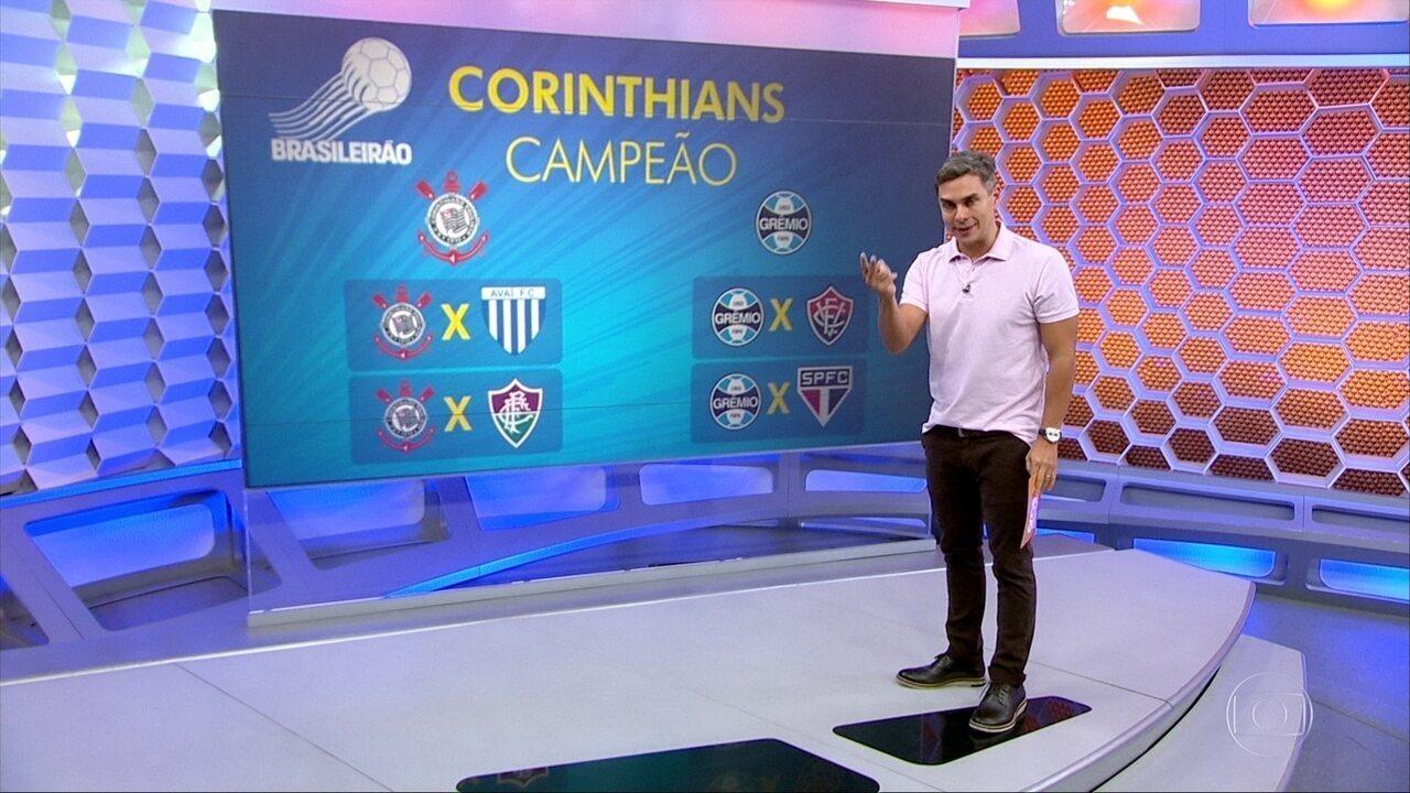 Veja como o Corinthians pode ser campeão na quarta-feira que vem
