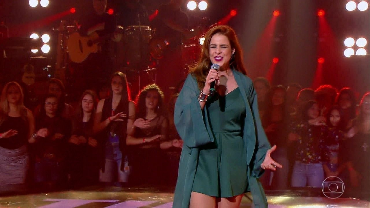 Mariana Volker cantou 'Roxanne'