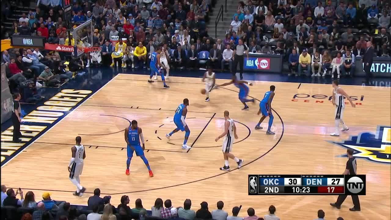 Melhores momentos: Oklahoma City Thunder 94 x 102 Denver Nuggets pela NBA