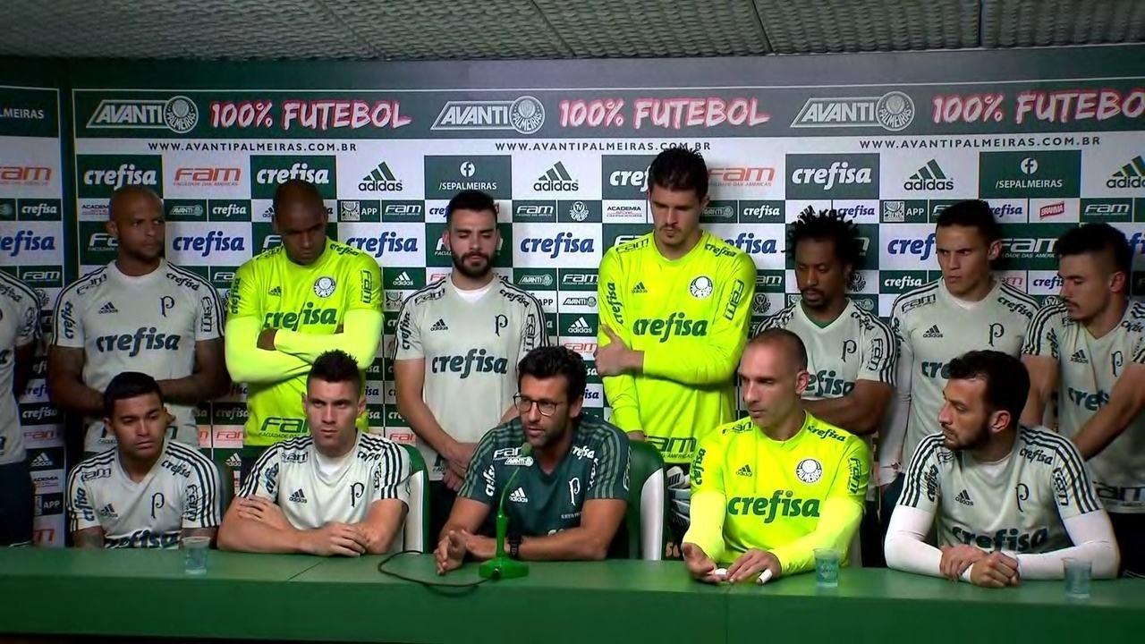 Veja o que falaram Alberto Valentim e os líderes do elenco do Palmeiras nesta sexta-feira