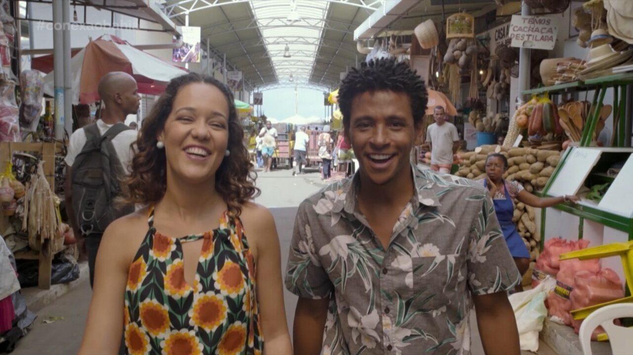 Renata e Aldri passeiam na Feira de São Joaquim; Briza dá dicas pro fim de semana