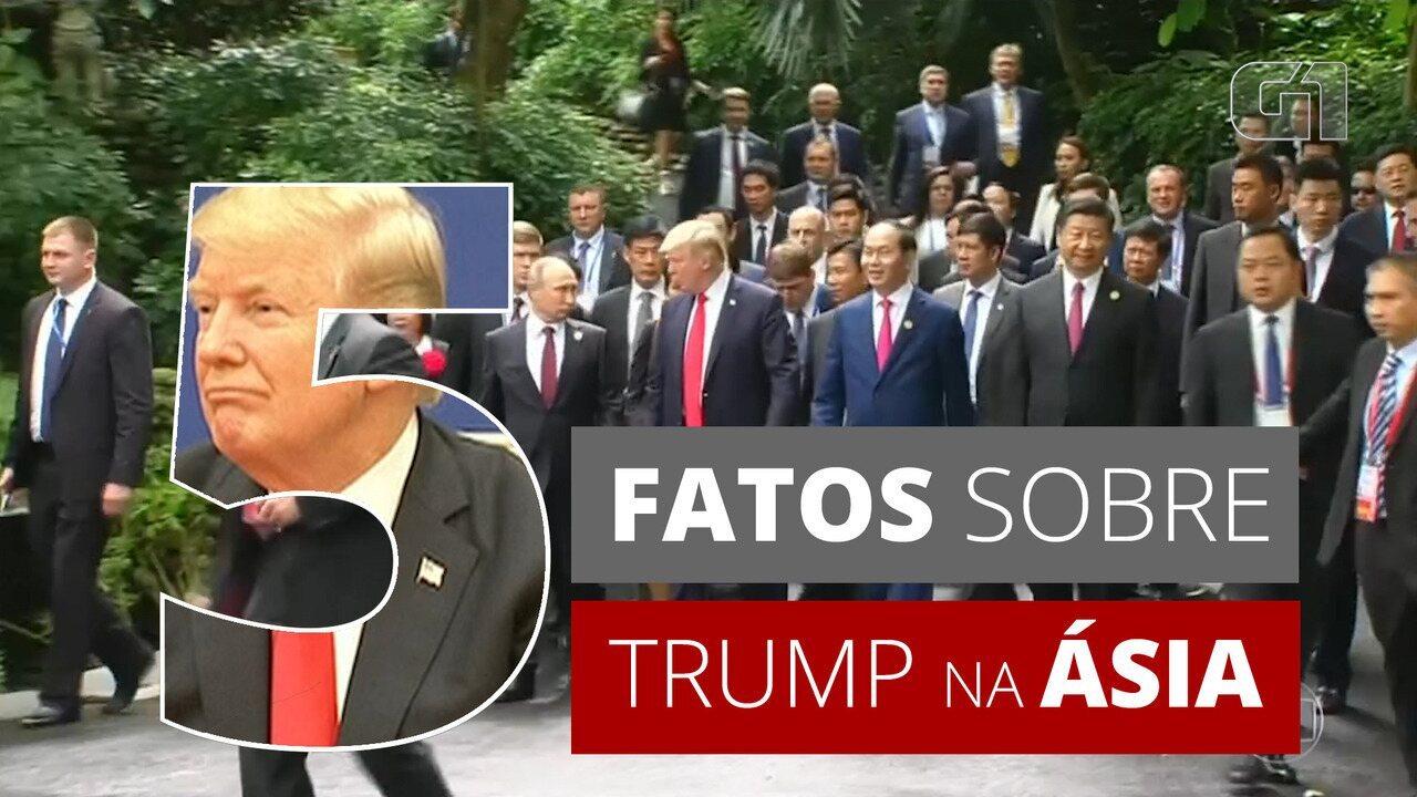 5 fatos sobre: Trump faz a viagem mais longa em 25 anos de um presidente americano à Ásia