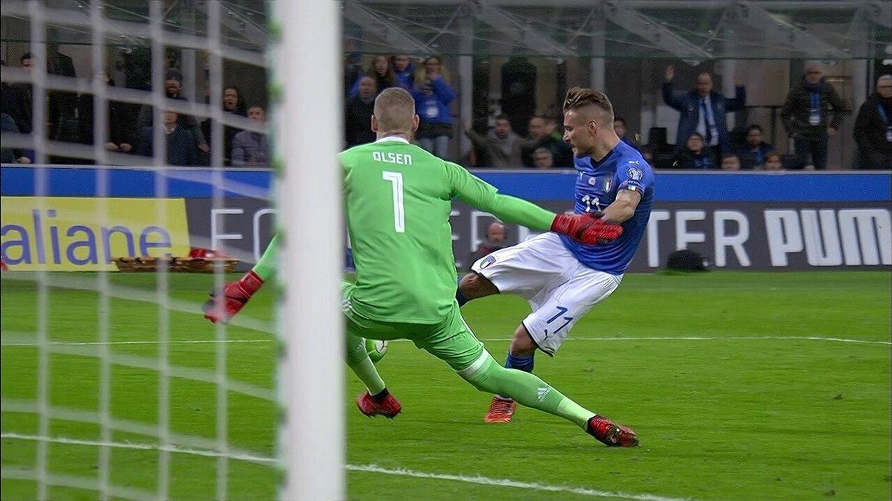 Melhores momentos: Itália 0 x 0 Suécia pela repescagem para a Copa de 2018