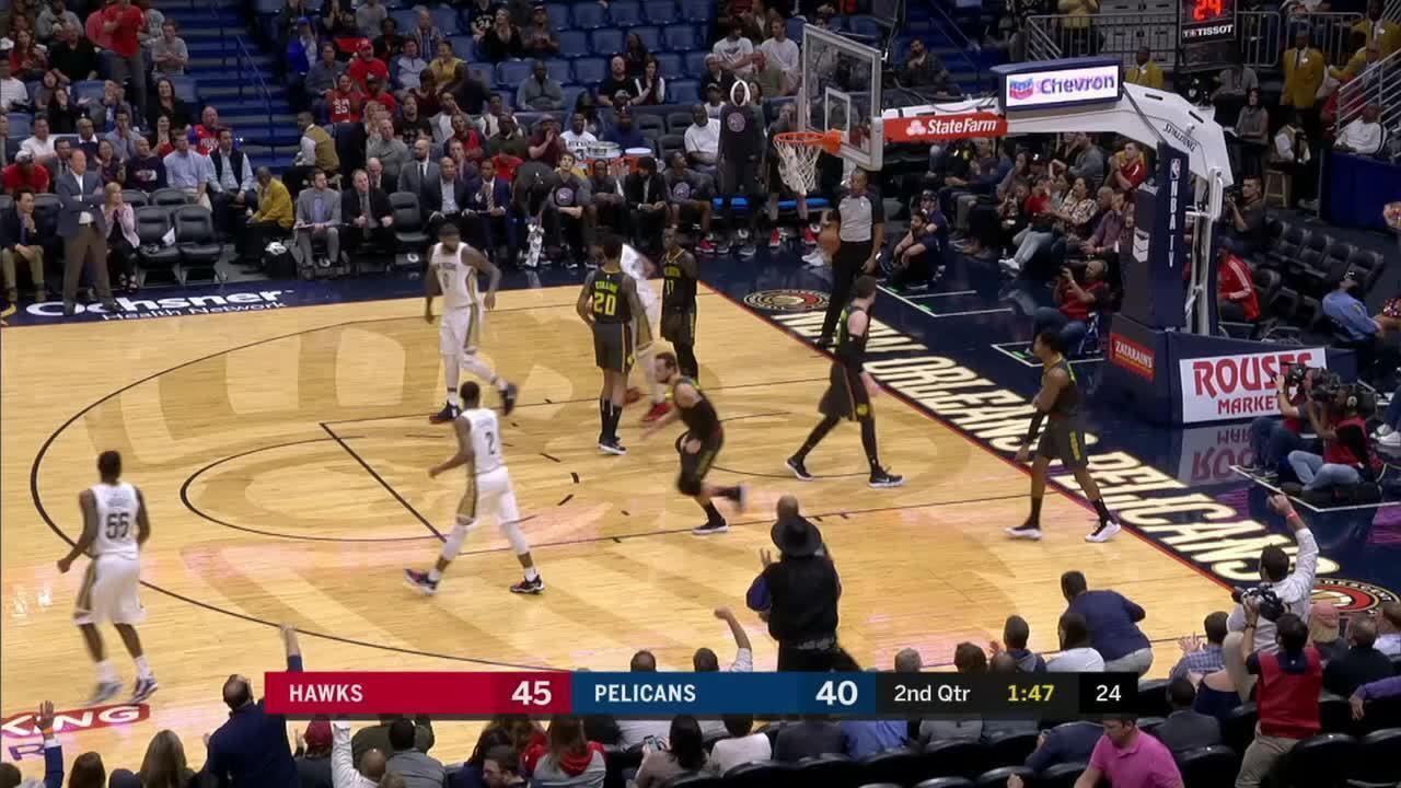 Melhores momentos: Atlanta Hawks 105 x 106 New Orleans Pelicans pela NBA