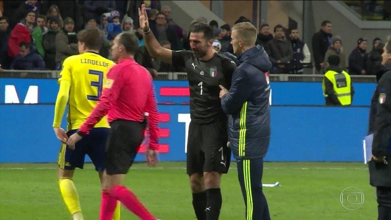 Itália empata com a Suécia e está fora da Copa do Mundo