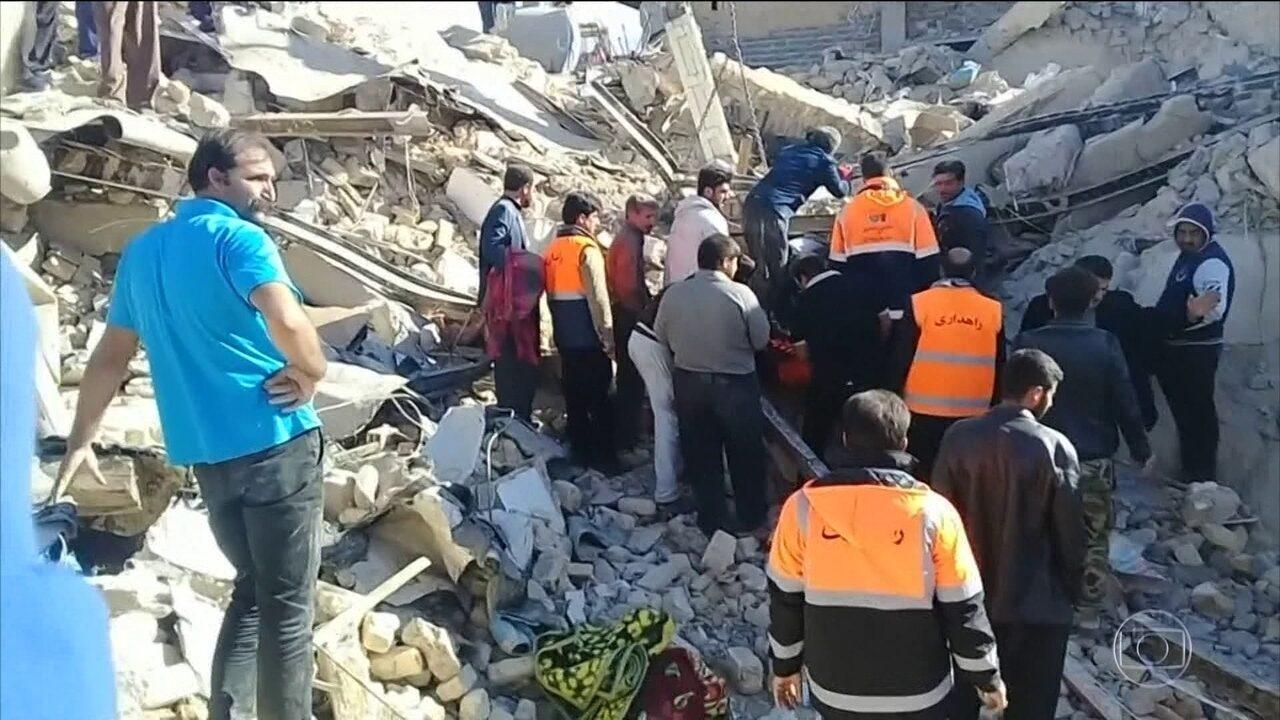 Sobe para quinhentos e trinta o número de mortos no terremoto do Irã