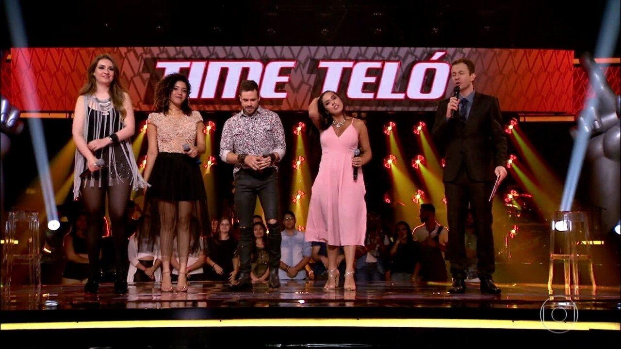 Michel Teló escolhe 2 vozes para permanecerem na disputa