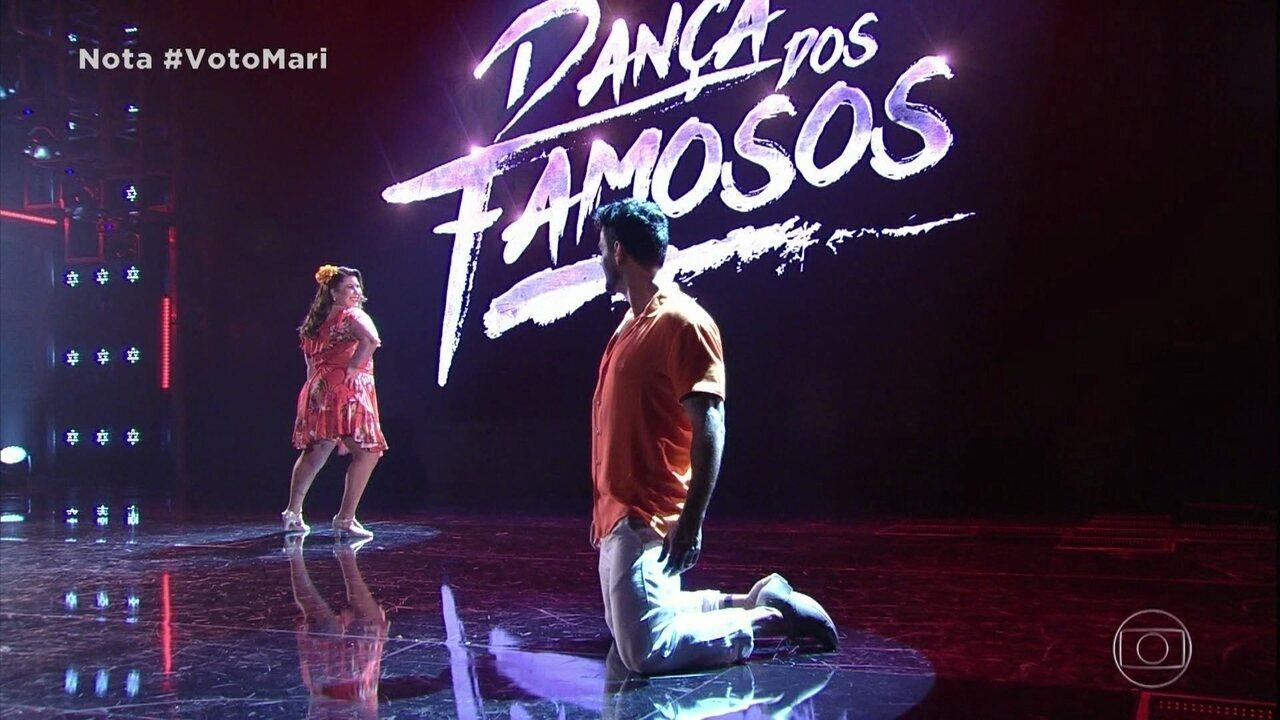 Mariana Xavier e Léo Santos arrebentam na salsa