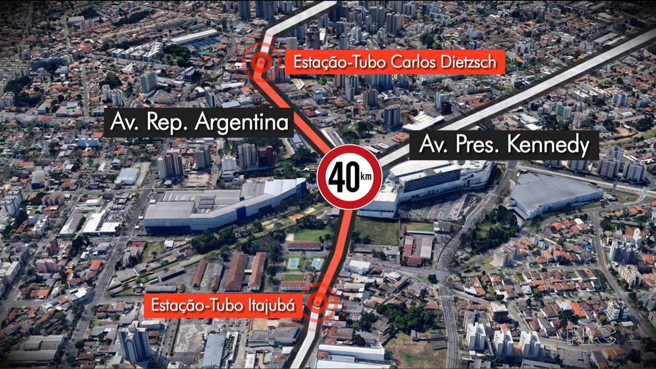 Ônibus reduzem velocidade em cruzamento do Portão