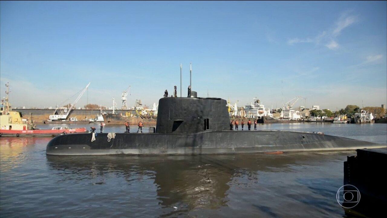Dez países ajudam na busca do submarino argentino que desapareceu há 6 dias com 44 pessoas