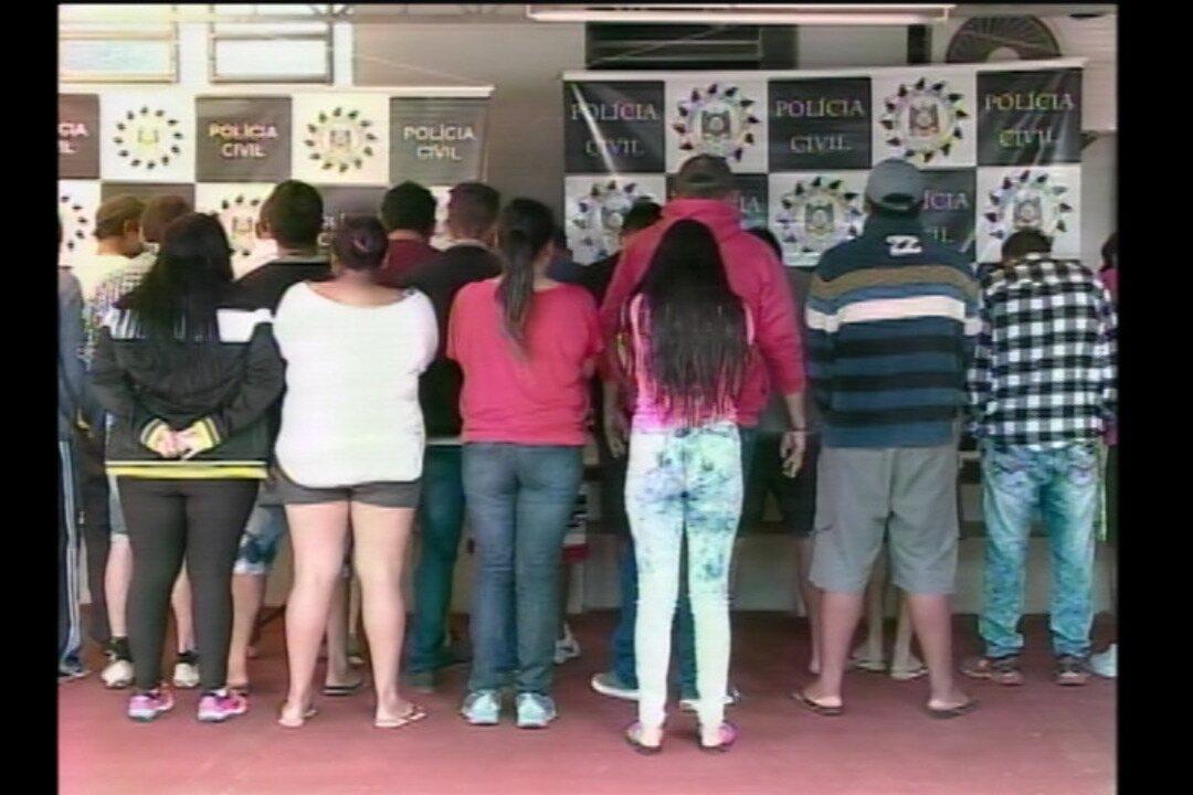 22 pessoas são presas por tráfico de drogas na Região