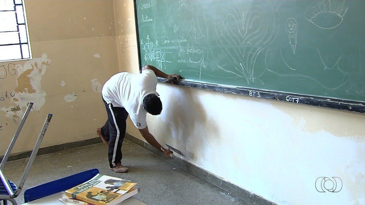 Ex-alunos se unem e fazem mutirão para reforma escola em Goiânia
