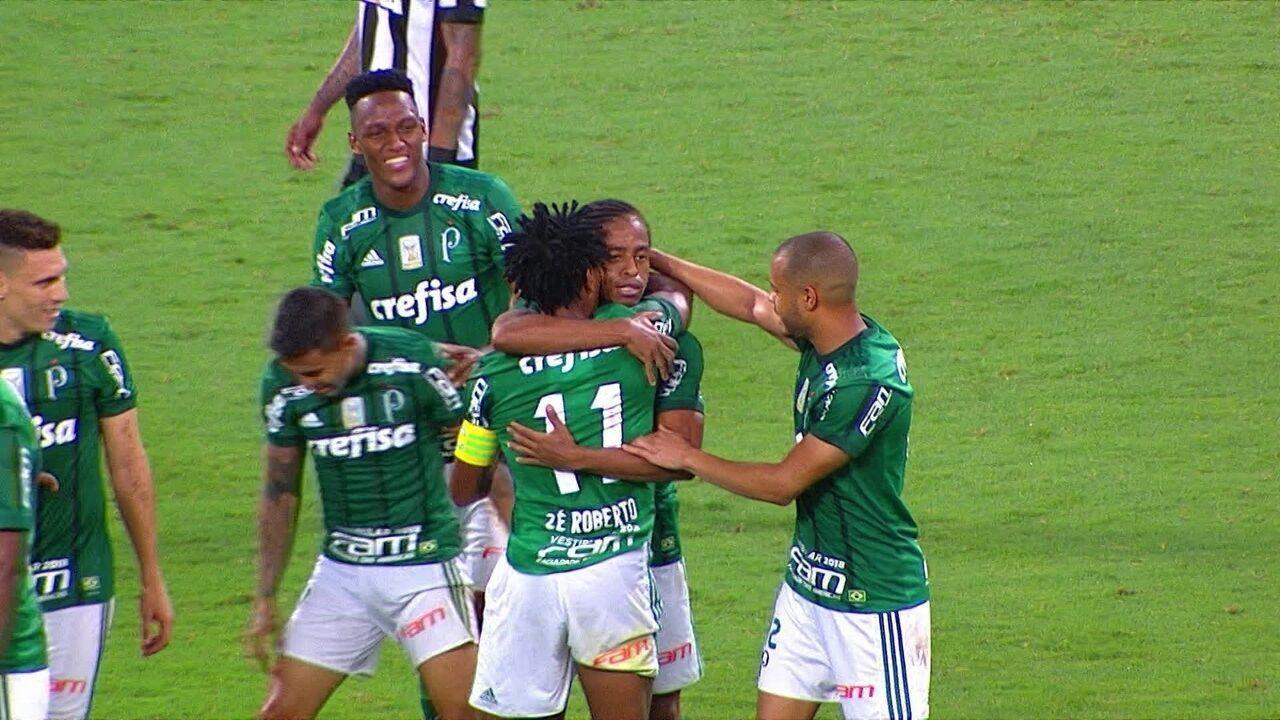 Os gols de Palmeiras 2 x 0 Botafogo pela 37º rodada do Brasileirão