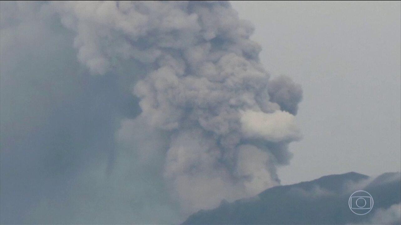 Aeroporto Bali : Com medo de novas erupções do vulcão agung aeroporto de bali